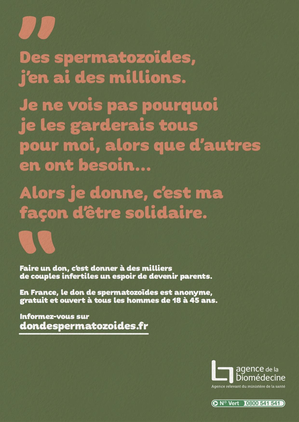 dons de spermatozoide prix france